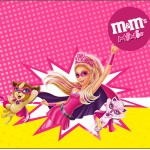 Mini M&M Barbie Super Princesa Rosa
