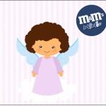 Mini M&M Batizado Anjinha Afro