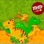 Mini M&M Dinossauro Cute