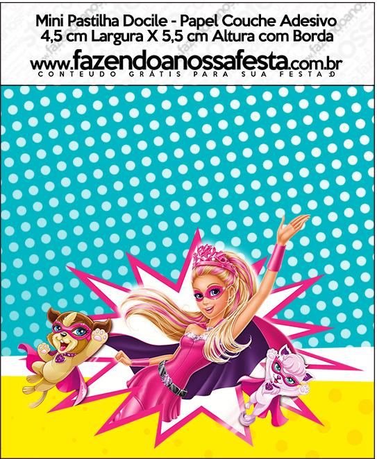 Mini Pastilha Docile Barbie Super Princesa