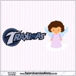Mini Trakinas Batizado Anjinha Afro