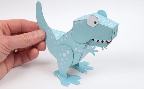 Molde Dinossauro 3d Pronto Para Imprimir