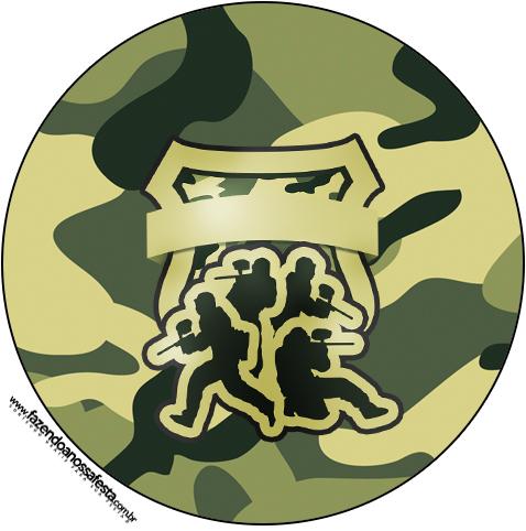 Molde Latinha Kit Militar Camuflado