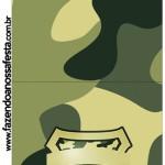 Molde Pirulito Kit Militar Camuflado