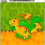 Molde Quadrado Dinossauro Cute
