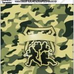 Molde Qualquer tamanho Kit Militar Camuflado