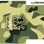 Molde Saquinho de Chá Kit Militar Camuflado
