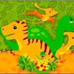 Molde Tubete Dinossauro Cute