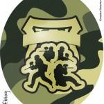 Molde Tubete Oval Kit Militar Camuflado