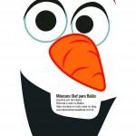 Rosto do Olaf para balão
