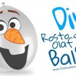 Rosto do Olaf para balão – Pronto para imprimir