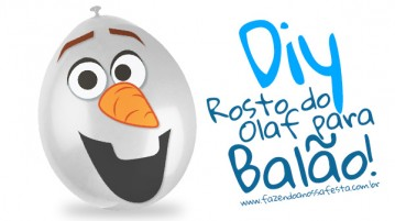 Molde do Olaf feito de balão - Modelo