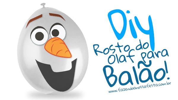 Rosto do Olaf para balão - Modelo