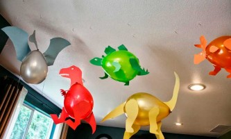 Molde Dinossauro feito de Balão