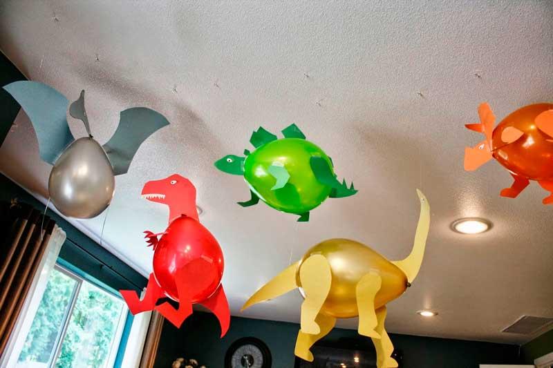 Moldes De Dinossauros Feitos Com Balao Pronto Para Imprimir
