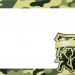 Moldura ou Convite Kit Militar Camuflado
