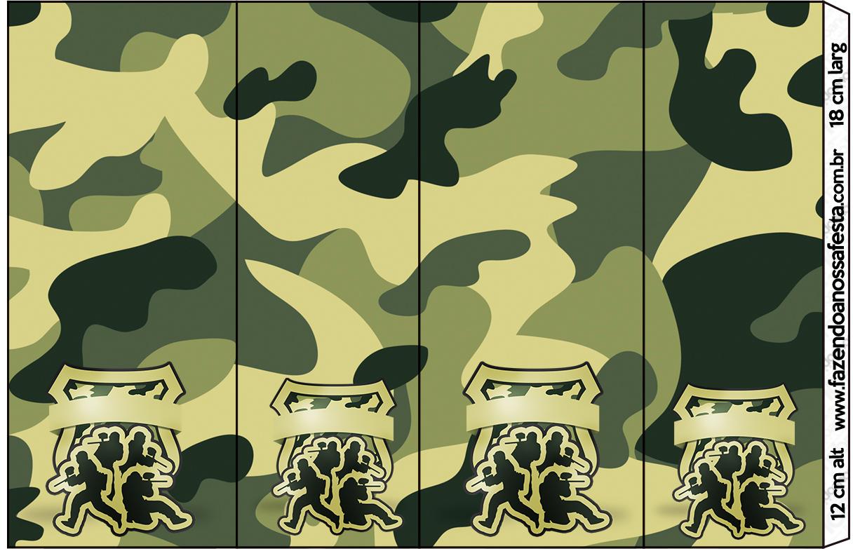 Nescauzinho Kit Militar Camuflado