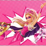 Painel Barbie Super Princesa Rosa