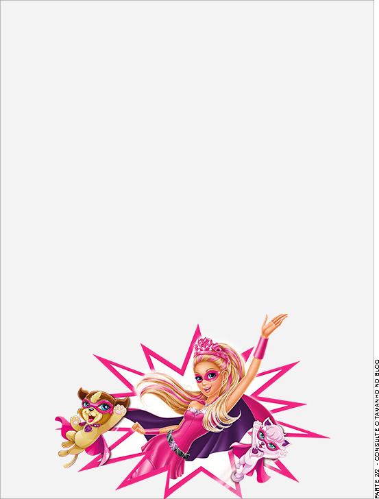 Passaporte Barbie Super Princesa Rosa- Parte de dentro