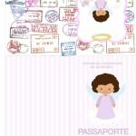 Passaporte Batizado Anjinha Afro