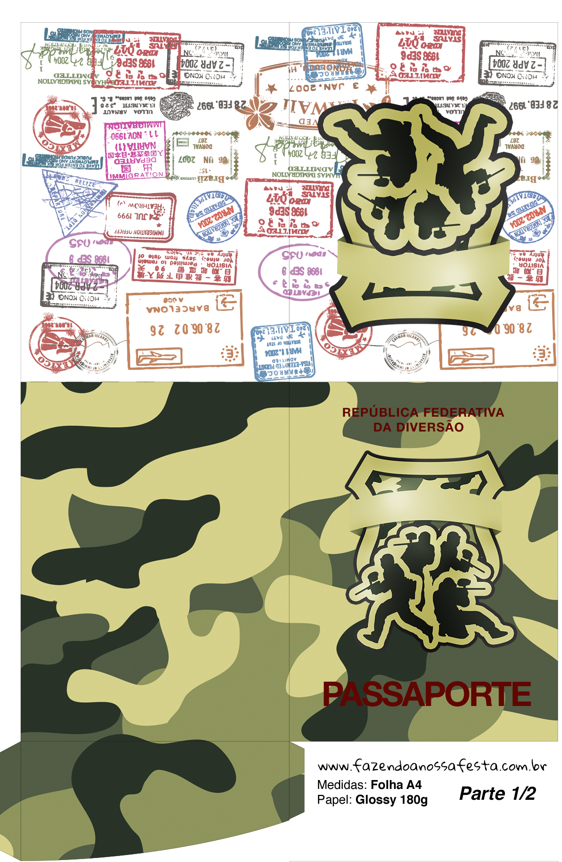 Passaporte Kit Militar Camuflado