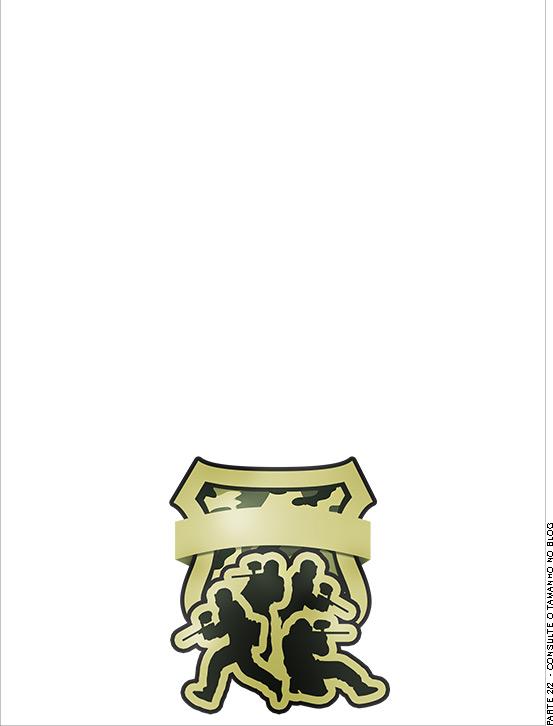 Passaporte - Parte de dentro - Convite Kit Militar Camuflado