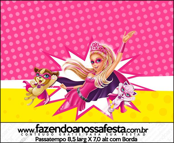 Passatempo Barbie Super Princesa Rosa