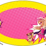 Placa Elipse Barbie Super Princesa Rosa
