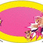 Placa Elipse Barbie Super Princesa Rosa
