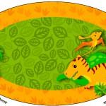 Placa Elipse Dinossauro Cute