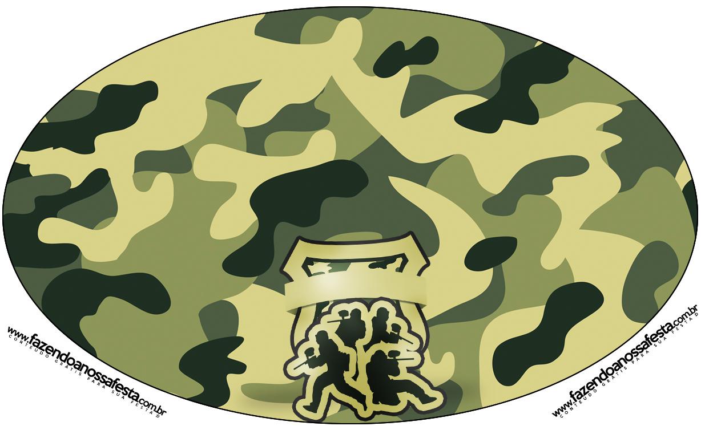 Placa Elipse Kit Militar Camuflado
