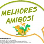 Plaquinha Divertida Dinossauro Cute 10