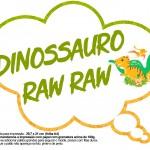 Plaquinha Divertida Dinossauro Cute