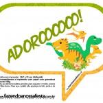 Plaquinha Divertida Dinossauro Cute 18
