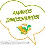 Plaquinha Divertida Dinossauro Cute 24