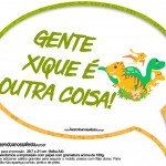 Plaquinha Divertida Dinossauro Cute 3