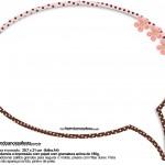 Plaquinhas Divertidas Ursinha Marrom e Rosa 1