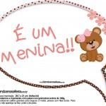 Plaquinhas Divertidas Ursinha Marrom e Rosa 12