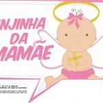 Plaquinhas para Chá de Bebê - Anjinha da Mamãe