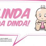 Plaquinhas para Chá de Bebê - Linda da dinda