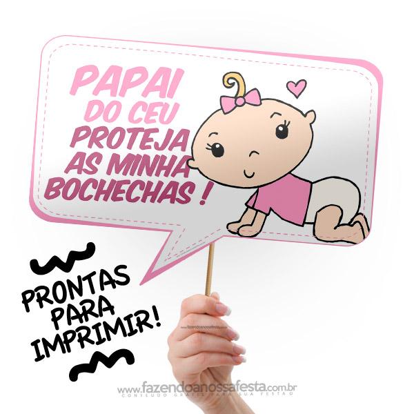 Plaquinhas Para Chá De Bebê Grátis Para Imprimir