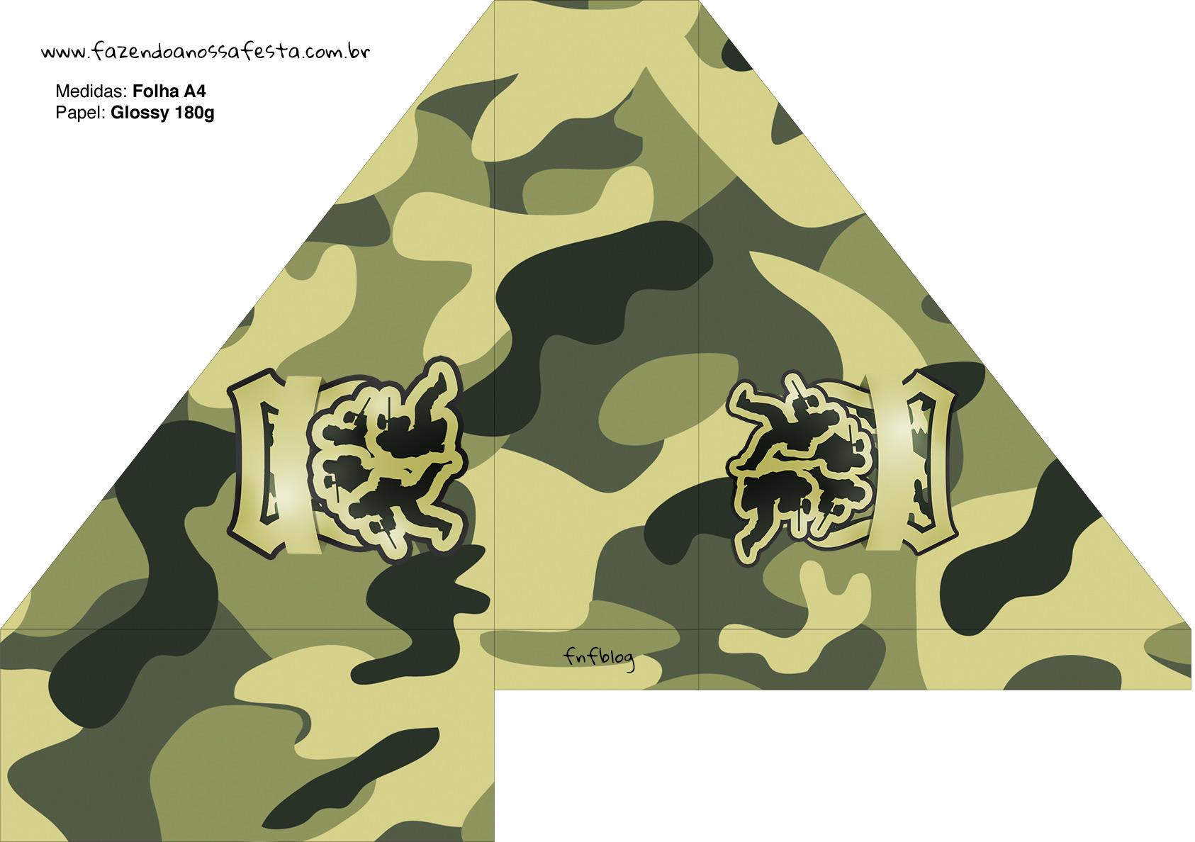 Porta Guardanapos Kit Militar Camuflado