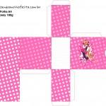 Porta Tubetes Barbie Super Princesa Rosa