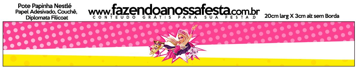 Pote Papinha Barbie Super Princesa Rosa