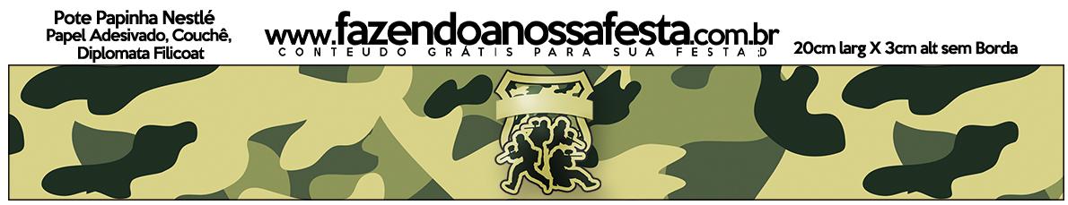Pote Papinha Kit Militar Camuflado
