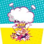 Pote de Pipoca Barbie Super Princesa