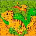 Quebra-cabeça Dinossauro Cute