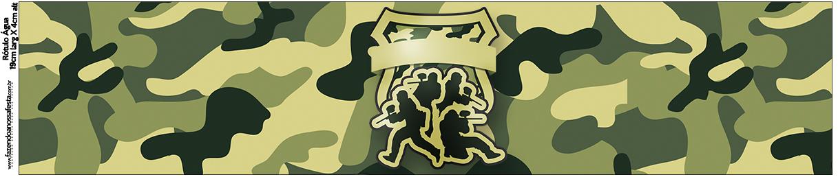Rótulo Água Kit Militar Camuflado