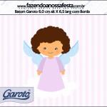 Rótulo Batom Garoto Batizado Anjinha Afro
