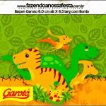 Rótulo Batom Garoto Dinossauro Cute